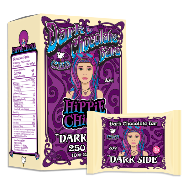 hippie-chicks-cbd-dark-chocolate-bars-dark-side_CBD-edibles_hemp oil