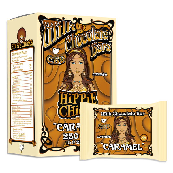 hippie-chicks-cbd-milk-chocolate-bars-caramel_CBD-edibles_hemp oil