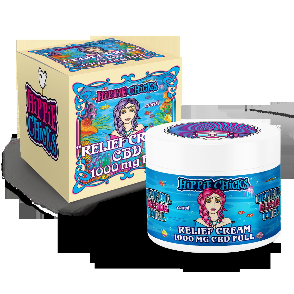 hippie-chicks-pain-relief-cream-1000mg-CBD-full-spectrum oil