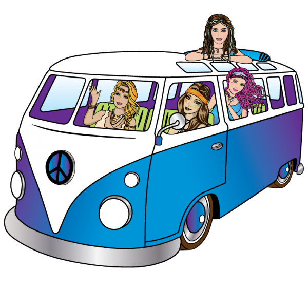 hippie-chicks-vw-bus-for-cbd-thc-chocolate